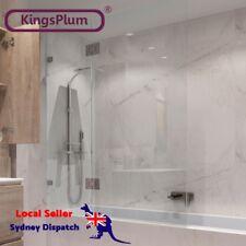 2 Panel Bath Shower Screen Bathtub 10mm Thick Safety Toughened Glass AU Standard