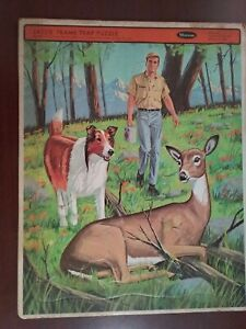 "Vintage 1968 Lassie Frame Tray Puzzle #4559 11.5 x 14.5"""