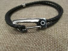 Montblanc star bracelet leather men's jewelry