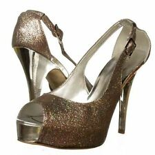 Guess Platform Pump Peep Toe Party Prom Dressy Heels Size.9