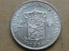 Rijksdaalder, Wilhelmina, 1938, zilver, prachtig +
