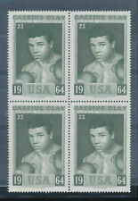 1964 BOXING World Champion Stamps Cassius Clay Muhammad Ali # 23  block of 4