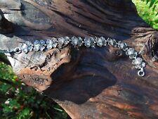 """Vintage BEAU Sterling Silver Dogwood Flower Floral Bracelet 7-1/4"""""""