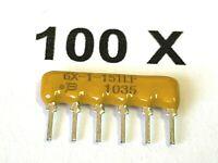 150R, 5x150 Ohm, 2%, 6pol. BOURNS, 4606X-101-151LF, Arrays, Netzwerk, 100 Stück