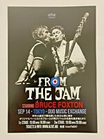 BRUCE FOXTON The Jam Tokyo Japan Concert 2019 Flyer/Handbill Double-Sided
