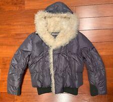 Ermanno Scervino Men's Winter Dark Grey Down Jacket With Sheep Fur