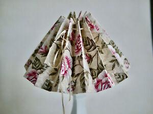 Handmade Fabric Covered, Romantic Lampshade, Table Lamp, Light