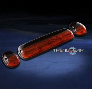 3PCS AMBER CAB ROOF LIGHTS LAMPS FORD F150 F250 F350 F450 F550 SUPER DUTY RANGER
