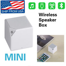 White Bluetooth Speaker Portable Small Stereo Wireless Sound Music Box Subwoofer