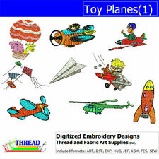 Embroidery Design CD - Toy Planes(1) - 9  Designs - 9 Formats - Threadart