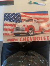 New ListingTin Sign Chevrolet truck Man Cave Retro Metal Signs Plaques Home Bar Decor