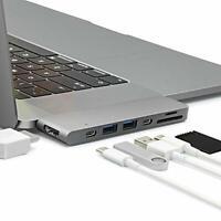 Sicotool USB C hub Macbook Pro 13/15 inch type SG1024 (gray)