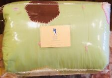 $189 New! Pottery Barn Kids Full Queen Paige Quilt Green w/ Colorful Patches