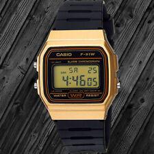 Casio F91WM-9A Digital Watch 7 Year Battery Gold Black Microlight Classic New