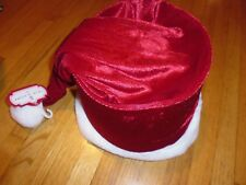 New Trim A Home SANTA'S HAT TREE TOPPER RED Plush Christmas Hanging Greeting CAP