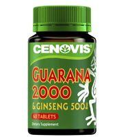 Cenovis Guarana 2000 & Ginseng 500mg 60 Tablets