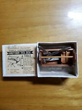 Shackman Handcrafted Hardwood Handyman Tool Box Miniature Antique Dollhouse