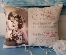 Vintage Victorian Mother Gift Pillow, Gift For Mom, Mother's Day Gift, Handmade