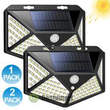 LED Solar Lights Outdoor Garden Waterproof Motion Sensor Wall Lamp Dusk-to-Dawn