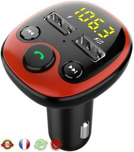 Transmetteur Bluetooth Voiture Chargeur Allume Cigare Charger Appel Mains Libres