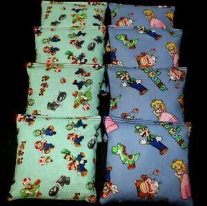DONKEY KONG Super Mario Nintendo Fabric 8 ACA Regulation Corn Hole Game Bags