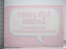 Aufkleber Sticker von Innen Organspendeausweis - Ich rette Leben (6620)