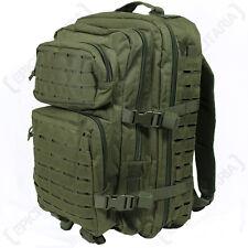 Laser Cut OLIVE GREEN Molle RUCKSACK 36L Large Assault Pack BACKPACK Army
