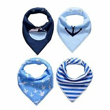 Baby Bandana Drool Bibs For Drooling & Teething 4Pack Gift Set for Boys Nautical