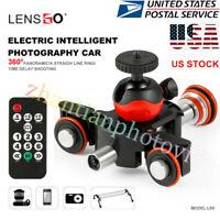 LENSGO Camera Video Track Motorized Electric Slider Motor Truck for Canon Sony