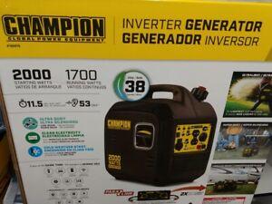 Champion Power Equipment #100478 Portable 2000 Watt Inverter Generator Brand New