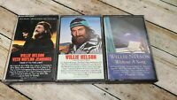 Willie Nelson Music Cassette Tape Lot of 3