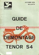 VELOSOLEX Tenor S4 : Manuel atelier (Guide de démontage moteur/boite) VELO SOLEX