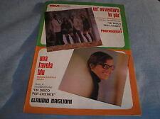 CLAUDIO BAGLIONI UNA FAVOLA BLU UN'AVVENTURA IN PIU' SPARTITO SHEET MUSIC 1970