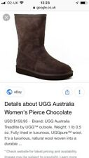 ladies uggs size 6.5 Chocolate Brown