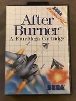 AFTER BURNER Sega Master System game complete in box w/ manual Tested Authentic