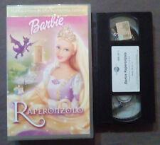 VHS FILM Ita Cartoni Animati BARBIE Raperonzolo universal ex nolo no dvd(VH56)