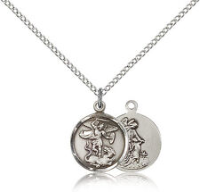 Saint Michael The Archangel Medal For Women - .925 Sterling Silver Necklace O...
