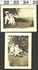 VINTAGE OLD B&W FAMILY PHOTOS OF MOM AND BROTHERS #2500