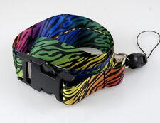 "Fashion Lanyard ""Rainbow Zebra"" Key chain Cellphone Holder Lanyard"