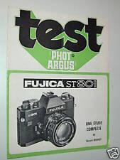 TEST PHOT ARGUS  FUJI FUJICA ST 801 en francais photo photographie