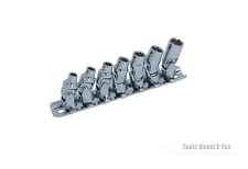 """Trident t111800 7pc Junta Universal Socket Set de 1/4 """"Dr 5mm - 10 mm en el ferrocarril"""