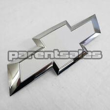 White & Chrome 15-20 Chevrolet Silverado 2500 3500 HD style Grille Bowtie Emblem