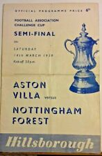 More details for aston villa v nottingham forest f.a. cup  s/final programme 14/3/59 hillsborough