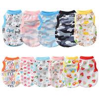 x 9 Lot Wholesale Boy Dog Clothes Girl Pet Cotton Pajamas Pet Puppy T-Shirt XS-L