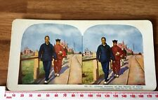 51 Chinese Bankers Dalny Nr Port Arthur Antique 1905 INGERSOLL Colour Stereoview