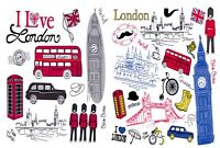 Pack of 6 NEW London Postcards,England, UK, Icons, City, View, Travel 55L