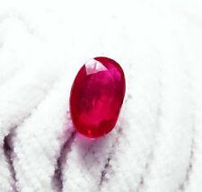 Superbe rubis du Mozambique  -  8 carats avec certificat .