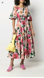 Dolce & Gabbana Flower Print Dress 42 IT (6 US) Size, New