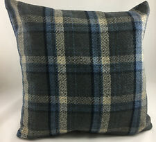 Blues and Greys Tartan Plaid Evans Lichfield Cushion Cover