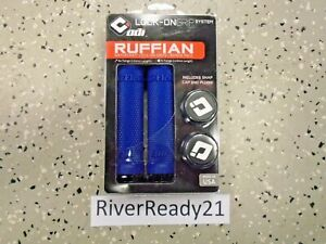 ODI Ruffian Blue Lock on Grips atv pwc Jet-Ski Sea-Doo Wave-runner-Blaster